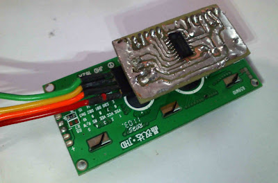 16x2 Serial LCD  (Two Wire) with PIC12F675 18