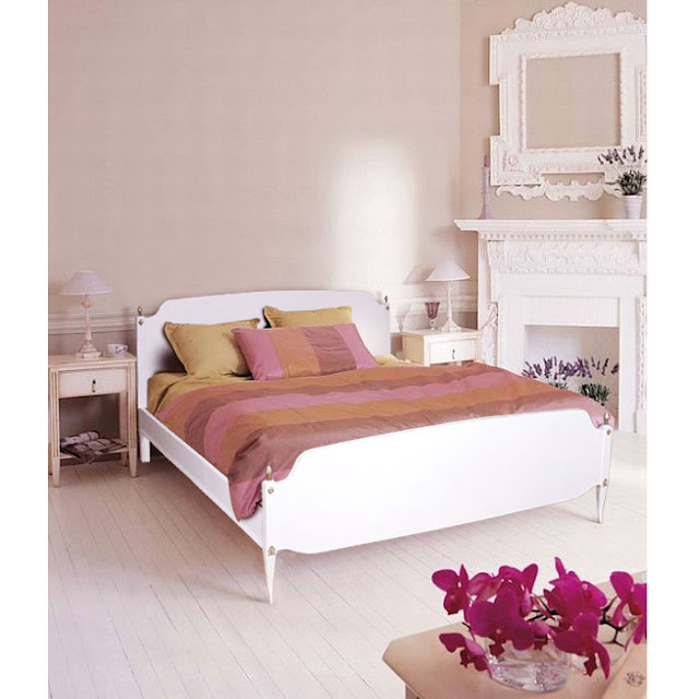Mobili Shabby Chic Atelier myArtistic: Letto laccato bianco shabby chic gustavian style bed