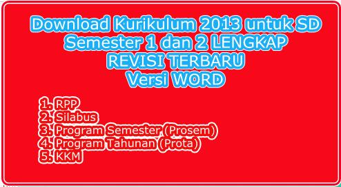 rpp, silabus, prota, prosem, KKM kurikulum 2013 semester 1 dan 2 semua kelas lengkap revisi terbaru