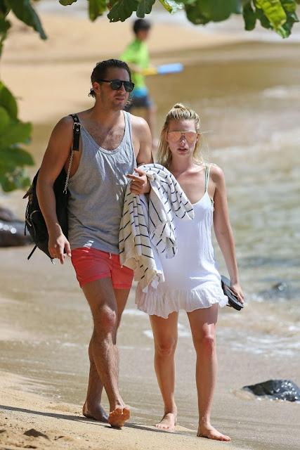 Margot Robbie in Bikini on the Beach in Hawaii