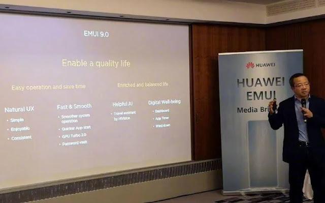 Huawei giới thiệu EMUI 9.0 beta dành cho 9 smartphone