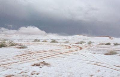 Akhirnya Salji Turun Juga Di Saudi