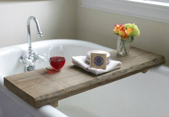 Genial Over On EHow: DIY Reclaimed Wood Bath Caddy