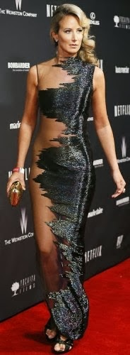 Lady Victoria Hervey's sheer dress to Golden Globes afterparty