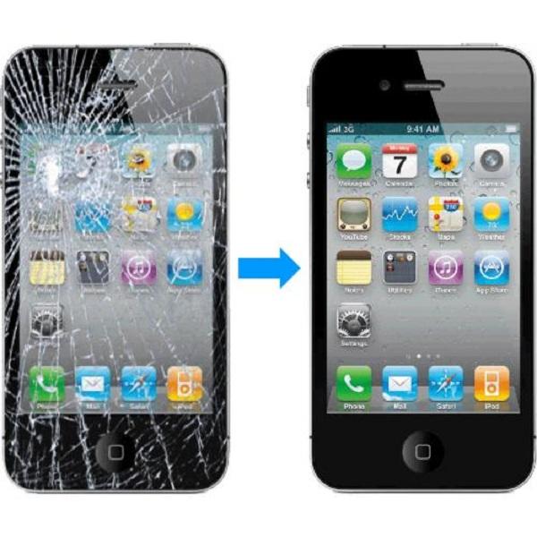 iPhone 4 sau khi thay mặt kính mới