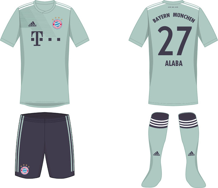 ec6b51711 Navy Shorts - Here is How Bayern München s 18-19 Kits Could Look ...