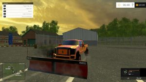 Ford F250 truck + Boss V plow pack