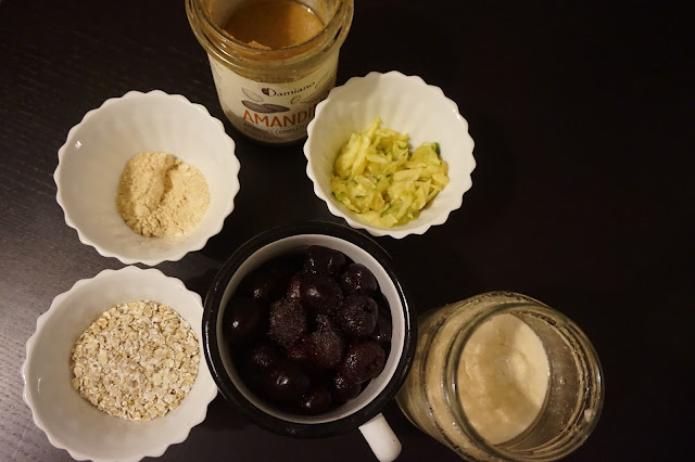 zoast_porridge_oatmeal_recette_recipe_healthy_breakfast_petit_déjeuner_sain_reequilibrage_alimentaire_fruits_gourmand_yummy_cherry_bakewell_tart_amandes_cerises_frangipane