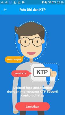 foto selfie di aplikasi Pede Aplkasi Android