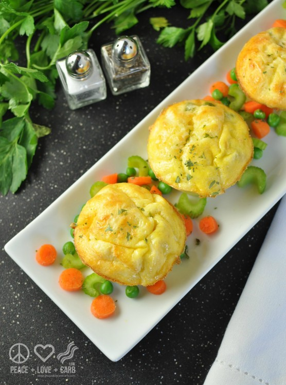 Chicken Pot Pie Egg Muffins - Low Carb, Gluten Free #Recipe