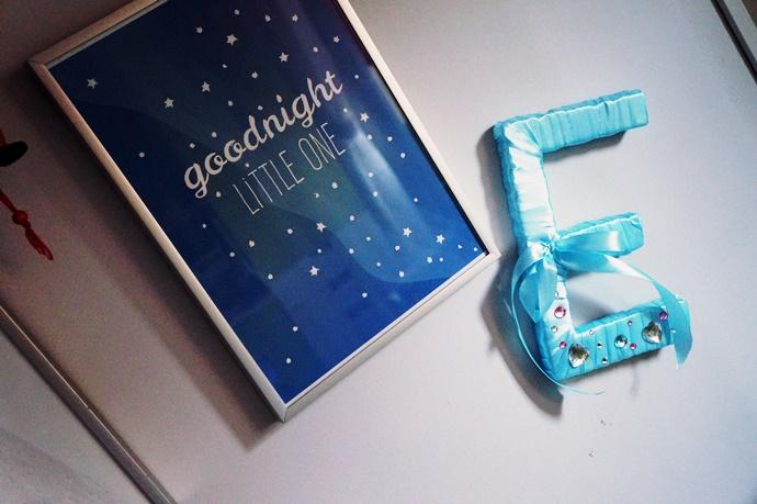 DIY: Jak zrobić literkę do pokoju dziecięcego? Ze styropianu.