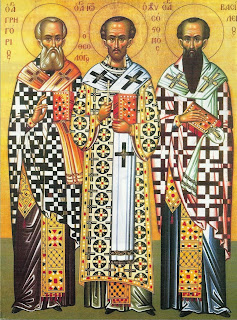 Αποτέλεσμα εικόνας για οι τρεις ιεράρχες 30 ιανουαριου