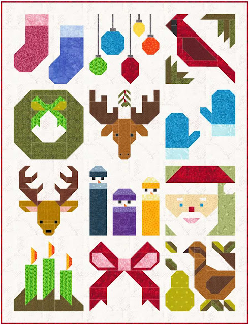 Free Christmas Quilt Block Patterns.Sew Fresh Quilts Have A Jolly Little Christmas