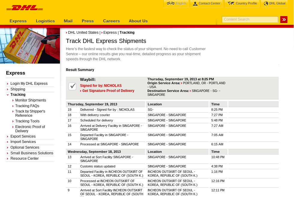 dhl package tracking tips tricks. Black Bedroom Furniture Sets. Home Design Ideas