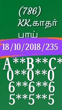 Kerala lottery abc guessing karunya plus kn-235 on 18.10.2018 by KK