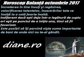 Horoscop octombrie 2017 Balanţă