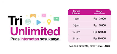 Daftar Paket Internet 3 Unlimited Tanpa Quota Sepuasnya Mau Cek Disini