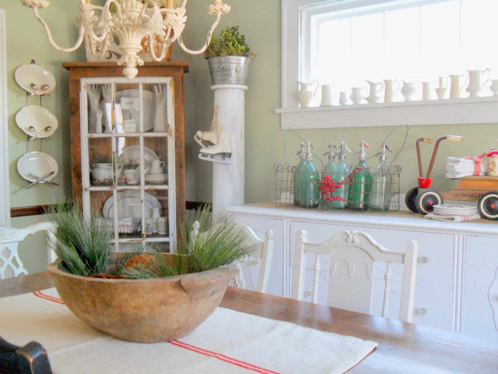 12 Rustic Dining Room Ideas: Must Love Junk: Creating Christmas-My Rustic Dining Room