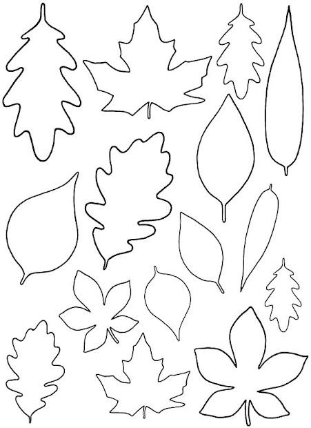 diy paper leaves free leaf template