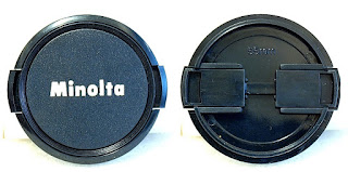 Minolta Label 55mm Side-Pinch Lens Cap