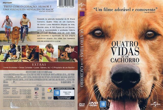 Capa DVD Quatro Vidas de Um Cachorro (Oficial)