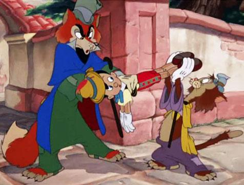 El zorro Honrado Juan, Pinocho y el gato Gedeón - Cine de Escritor
