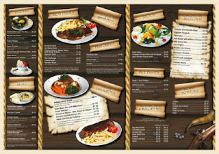 Ejemplos de menúes o cartas para comedores y restaurantes