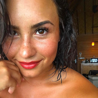 Demi Lovato Glows as She Shows Off Her Freckles in New Makeup-Free Selfies - See the Photos