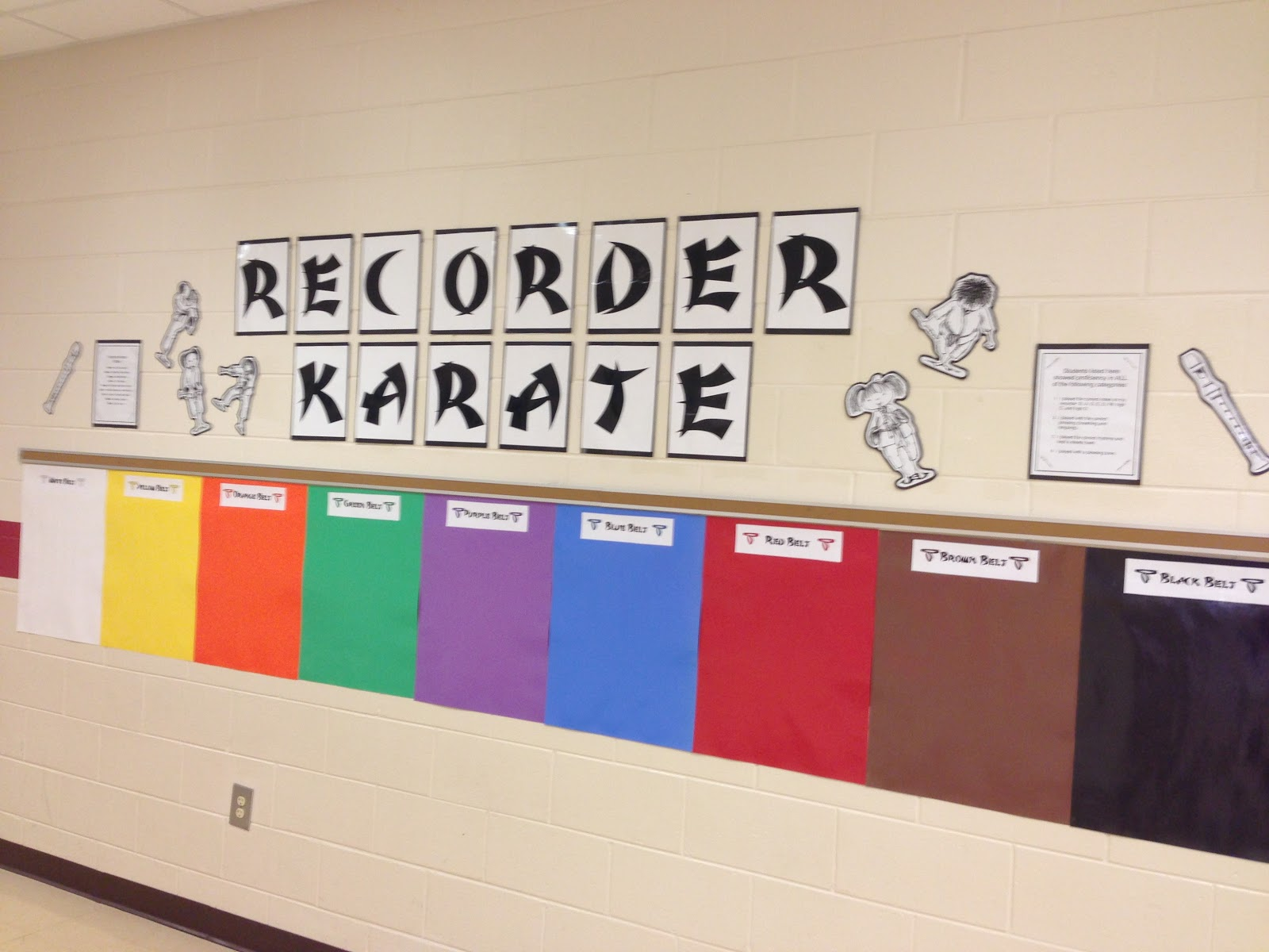 We Music Hses Recorder Karate Room Here Are The Posters At End Of Year
