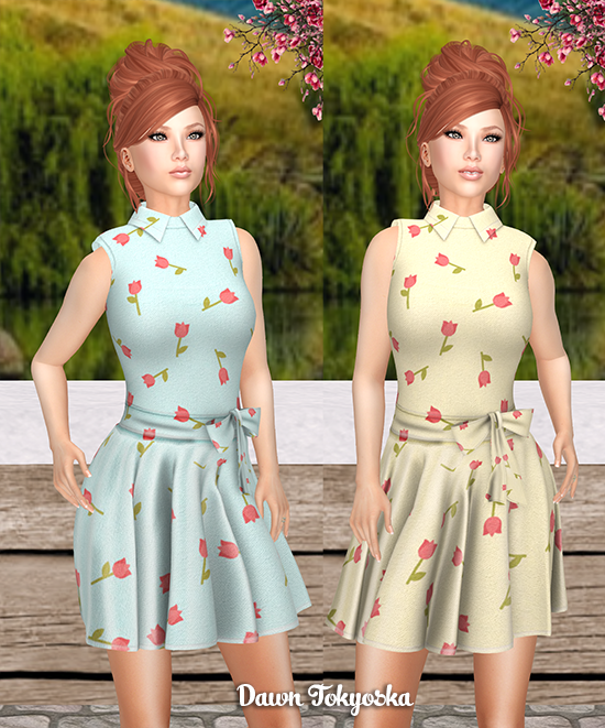 a6bb666ab4 My first look of the night is a fresh springtime dress from MOoh!, their  Aria Dress Tulips which is provided in what I call the lucky 13 of mesh  sizes: 5 ...
