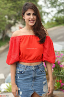 Rhea Chakraborty in Red Crop Top and Denim Shorts Spicy Pics ~  Exclusive 113.JPG
