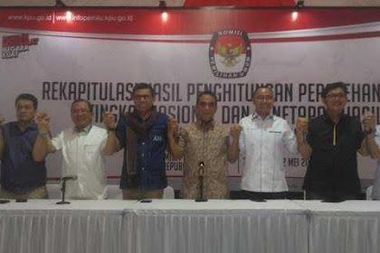 Lima Sekjen Partai Pengusung 02 Bahas Masalah Pemilu Dengan KPU