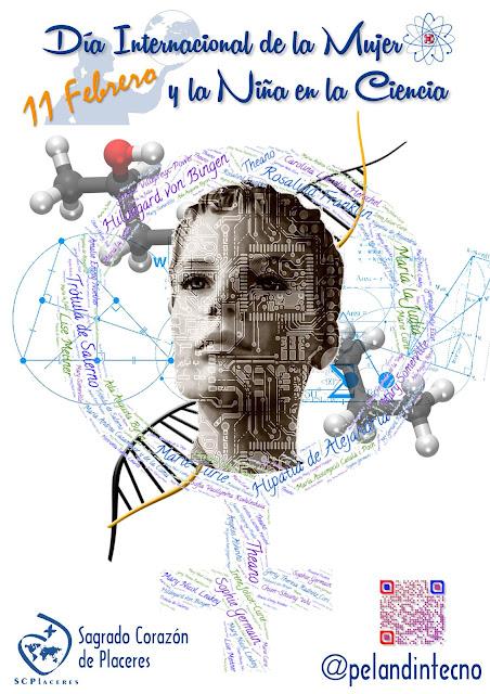 Póster: Mujer en la ciencia 11 Febrero