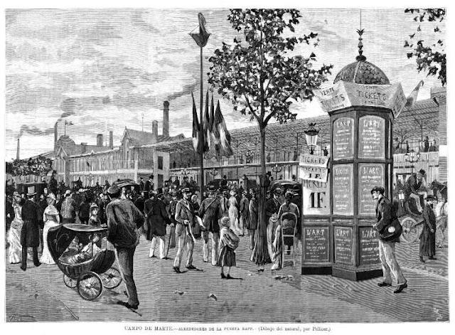 Imagen de los alrededores de una de las puertas de acceso al recinto de la exposición