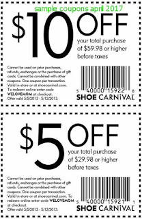 free Shoe Carnival coupons for april 2017
