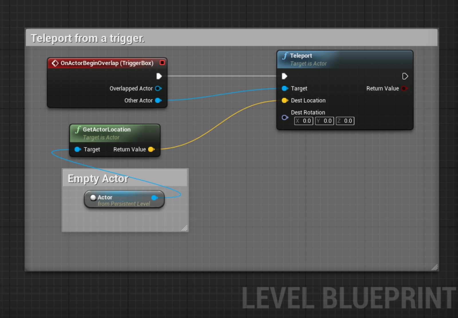 Ue4 simple blueprint teleport malvernweather Choice Image