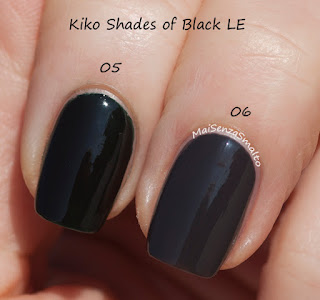 Kiko Shades of Black Nail Lacquer 05-06