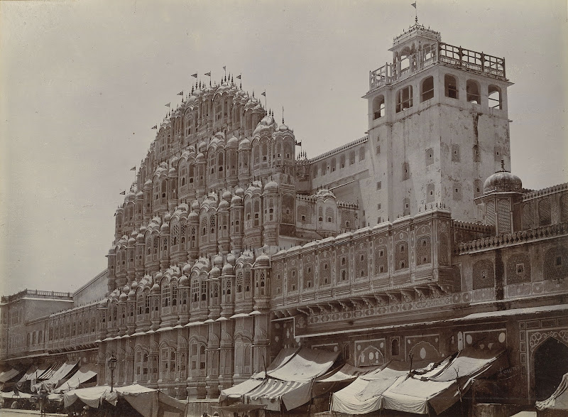 Hawa Mahal (Palace of Winds) in Jaipur, Rajasthan c1895
