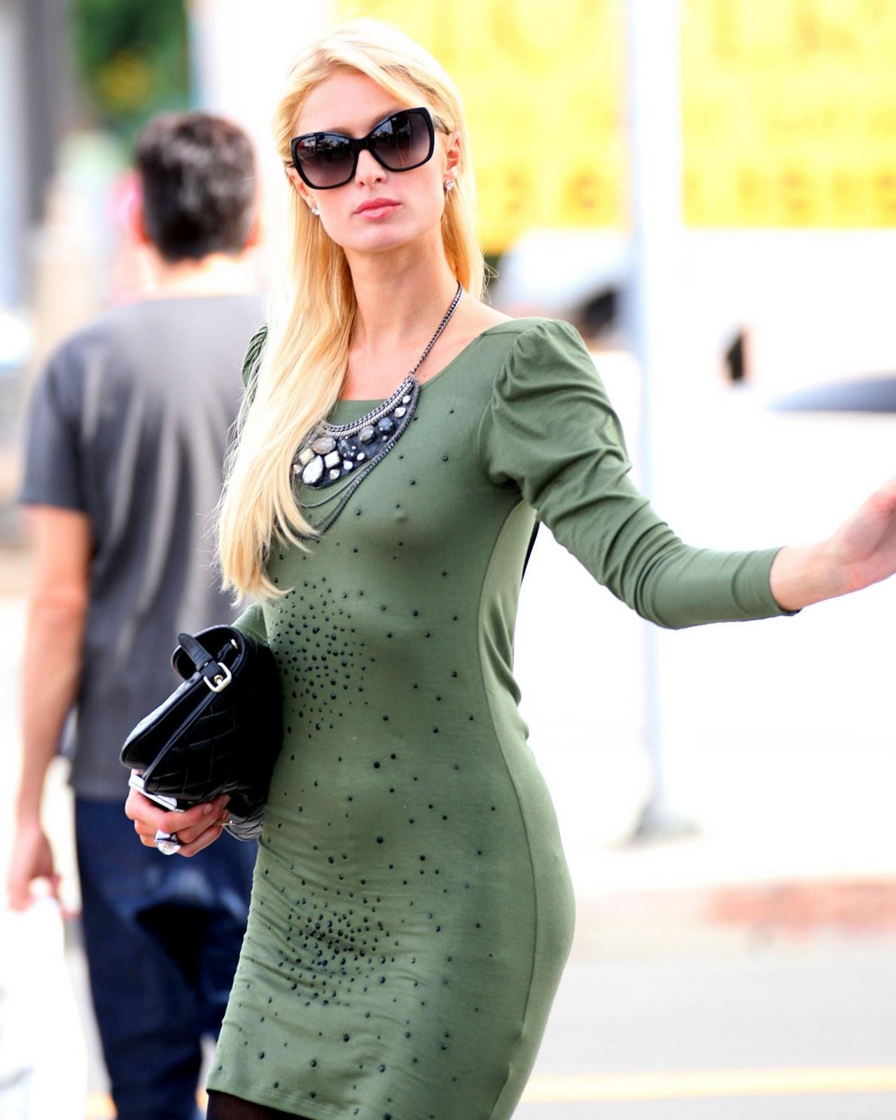 Paris Hilton - Braless Candids in Los Angeles   Hot Celebs