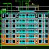 مشروع عمارة سكنية 5 طوابق اتوكاد dwg