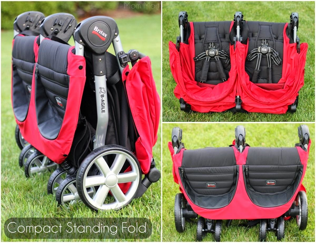 Britax Double Pushchair Reviews Mom Mart On The Go With The Britax B Agile Double Review