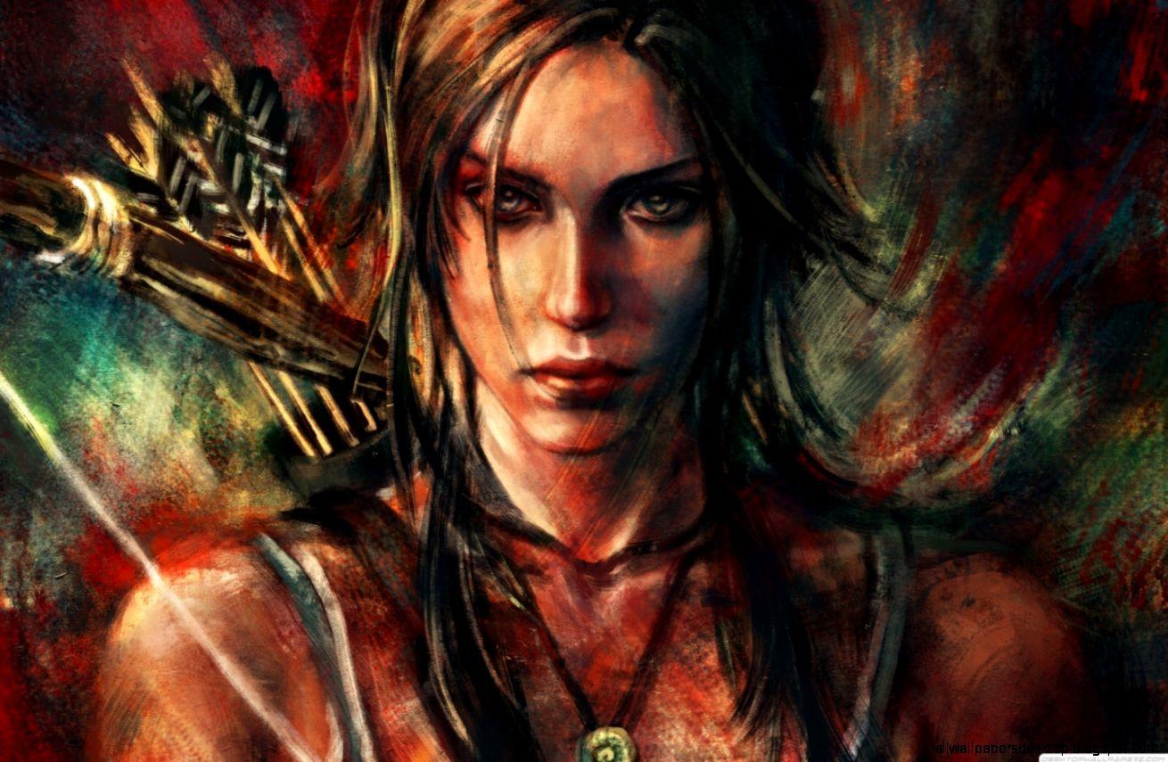 Lara Croft Art Hd Wallpaper All Wallpapers Desktop