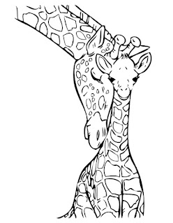 Mom And Baby Giraffe Coloring Pages For Print