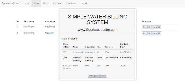 Download  Source Code Simple Water Billing System Berbasis PHP & MYSQL Versi Berga