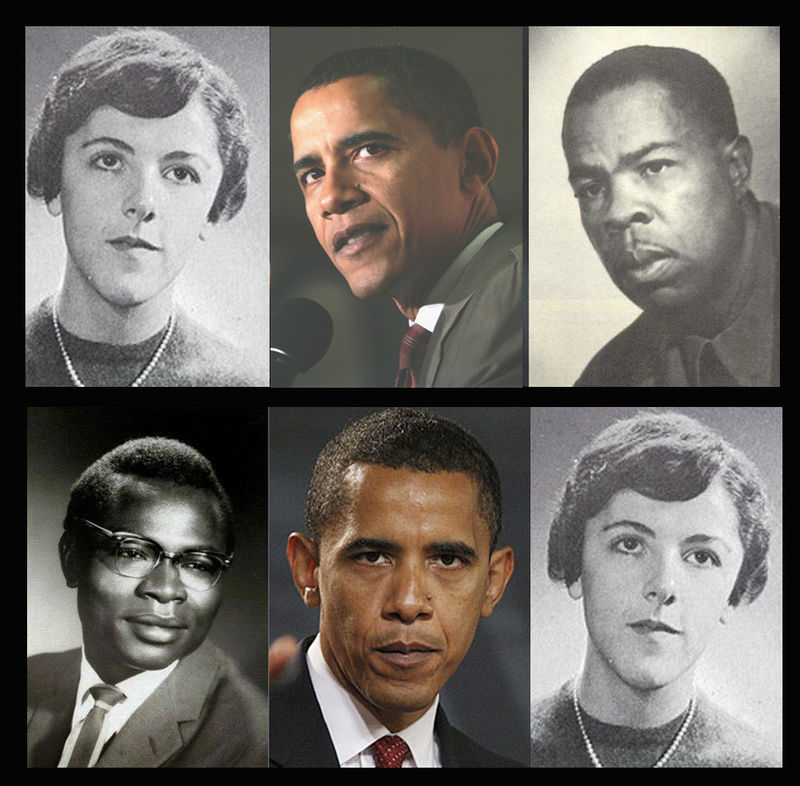 More Birth Certificate Questions Raised >> George Obama, looks like Obama Sr.....Why Does Obama Jr Look like Frank Marshall Davis?? - You ...