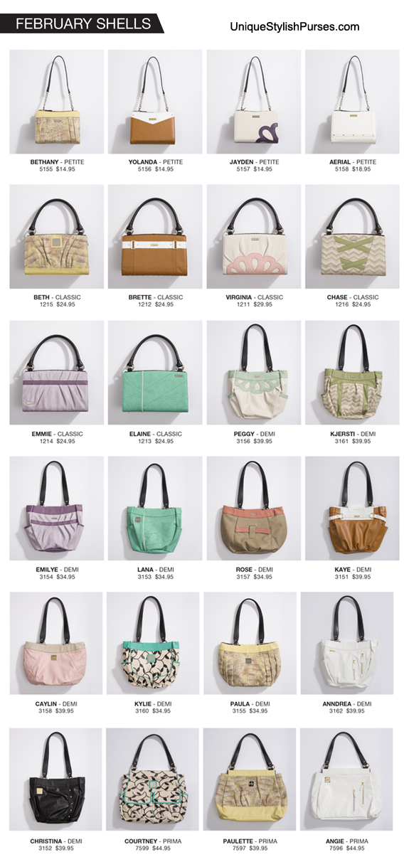 Miche Bags February 2017 Shell Accessories Releases