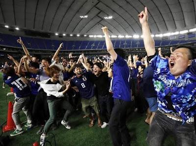 Japon celebra victoria de samurai blue