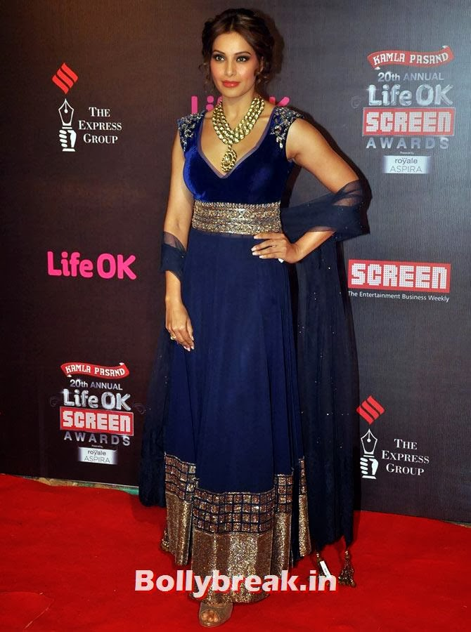Bipasha Basu, Life Ok Screen Awards 2014 Red Carpet Photos
