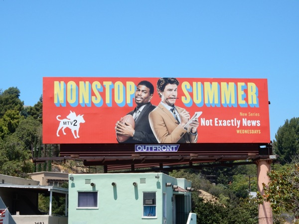 Nonstop Summer Not Exactly News billboard