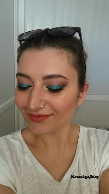 Makyaj Önerileri #1 Çift Renkli Eyeliner Makyajı / Mavi ve Siyahın Uyumu